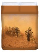 Soldiers In The Dust 4 Duvet Cover