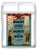 Soldiers Or Mechanic Duvet Cover