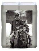 Solider On Horseback Duvet Cover