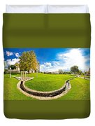 Solin Park And Church Panoramic View Duvet Cover