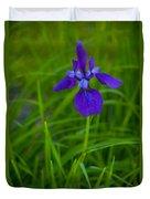 Solitary Blue Flag Duvet Cover