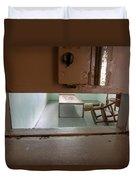 Solitary Confinement Cell Through Door Slat Duvet Cover