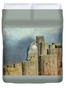 Solitary Gull Duvet Cover