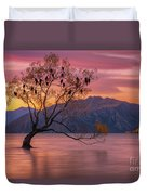Solitary Willow Tree Duvet Cover