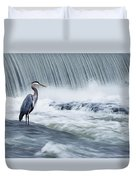Solitude In Stormy Waters Duvet Cover