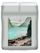 Solitude Of The Lake Duvet Cover