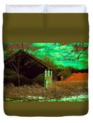 Solitude On The Backroads In Neon Duvet Cover