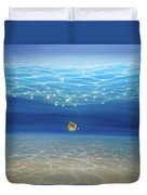 Solo Under The Turquoise Sea Duvet Cover