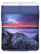 Solstice Sunrise At Jennes Beach Duvet Cover