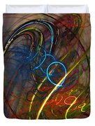 Some Critical Remarks Abstract Art Duvet Cover