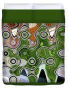Some Pink And Green Abstract Duvet Cover