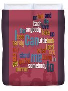 Somebody To Love. Queen. Typography Art. Gift For Music Fans Duvet Cover