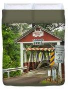 Somerset County Burkholder Covered Bridge Duvet Cover