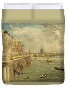 Somerset House Terrace From Waterloo Bridge Duvet Cover