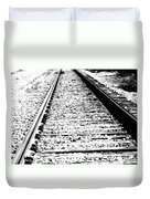 Something About The Railroad Tracks Duvet Cover