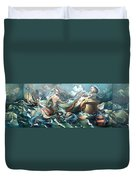 Something Fowl Afloat 2b Duvet Cover by Patrick Anthony Pierson