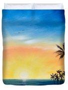 Sometimes I Wonder - Vertical Sunset Duvet Cover