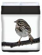 Song Sparrow Profile Duvet Cover