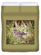 Song Sparrow Sweetie Duvet Cover