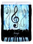 Songs - Blue Duvet Cover