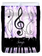 Songs - Purple Duvet Cover