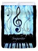 Songwriter - Blue Duvet Cover