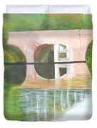 Sonning Bridge In Autumn Duvet Cover