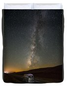 Sonora The Vw Bus Under The Milky Way Duvet Cover