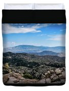 Sonoran Cliff Lookout Duvet Cover