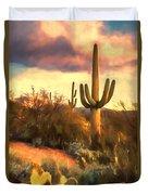 Sonoran Desert Morn Duvet Cover