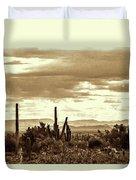 Sonoran Desert Mountains And Cactus Near Phoenix Duvet Cover