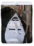 Snowy Gondola  Duvet Cover