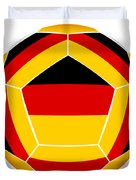 Soocer Ball With Germany Flag Duvet Cover