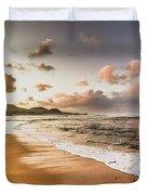 Soothing Seaside Scene Duvet Cover