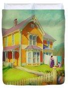 Sophie And Rose Duvet Cover by Steve Henderson