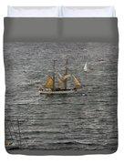 Soren Larsen Tall Ship Enters Sydney Harbour Duvet Cover