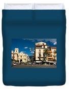 Sorrento Italy Piazza Duvet Cover