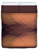 Soul Semi Circle Background Horizontal Duvet Cover