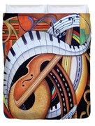 Sound Of Soul Strings Duvet Cover
