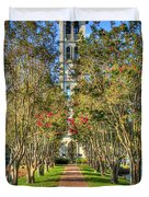 Sounds Of Victory The Bell Tower Furman University Greenville South Carolina Art Duvet Cover