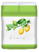 Sour Lemons Duvet Cover