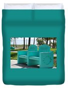 South Beach Bench Duvet Cover