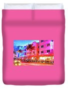 South Beach Neon Duvet Cover