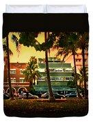 South Beach Ocean Drive Duvet Cover by Steven Sparks