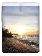 South Beach Sunset Duvet Cover
