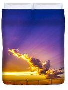 South Central Nebraska Sunset 008 Duvet Cover