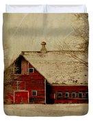 South Dakota Barn Duvet Cover