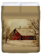 South Dakota Barn Duvet Cover