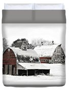South Dakota Farm Duvet Cover by Julie Hamilton