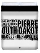 South Dakota Word Cloud 1 Duvet Cover